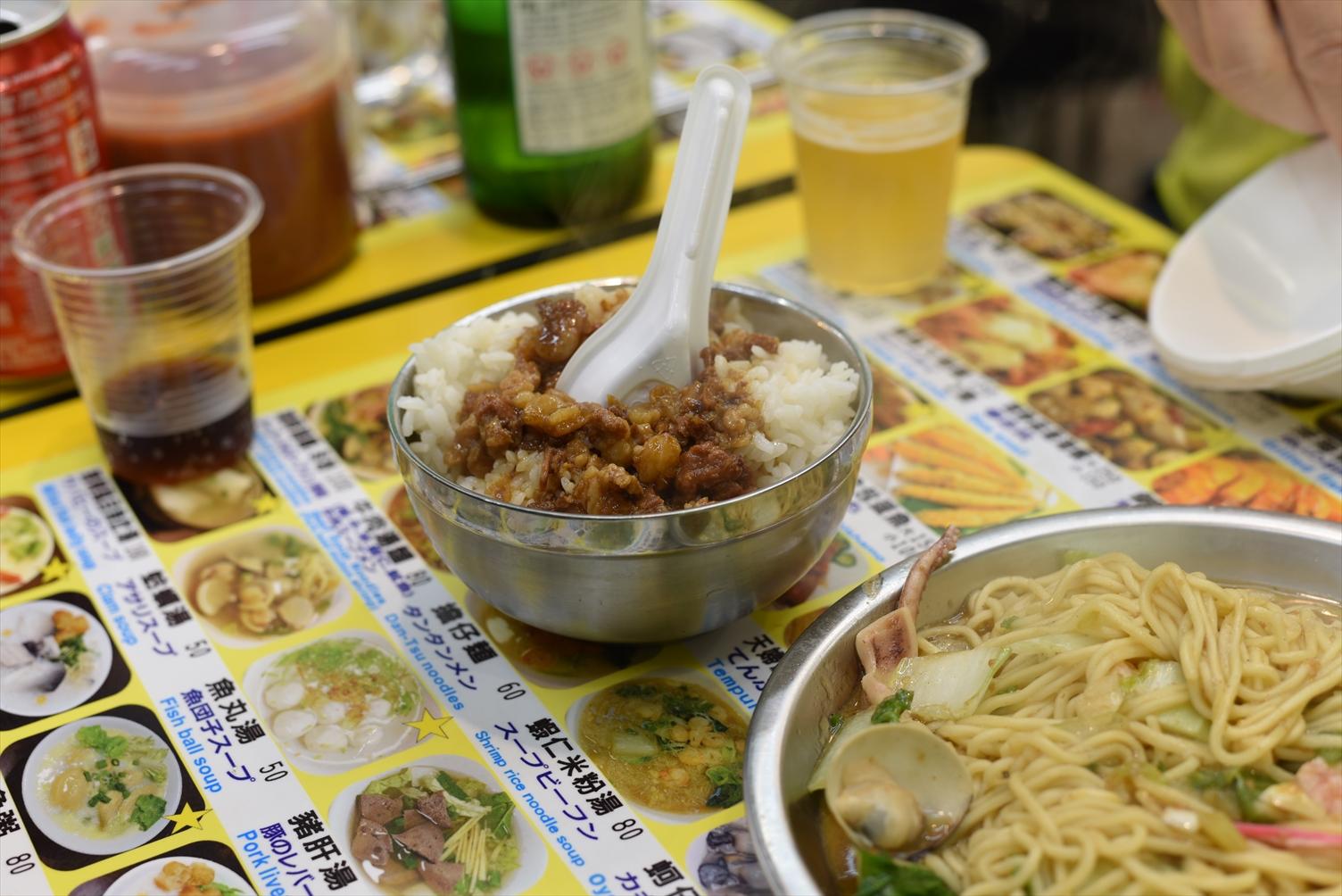 士林夜市 地下美食区 フードコート 魯肉飯