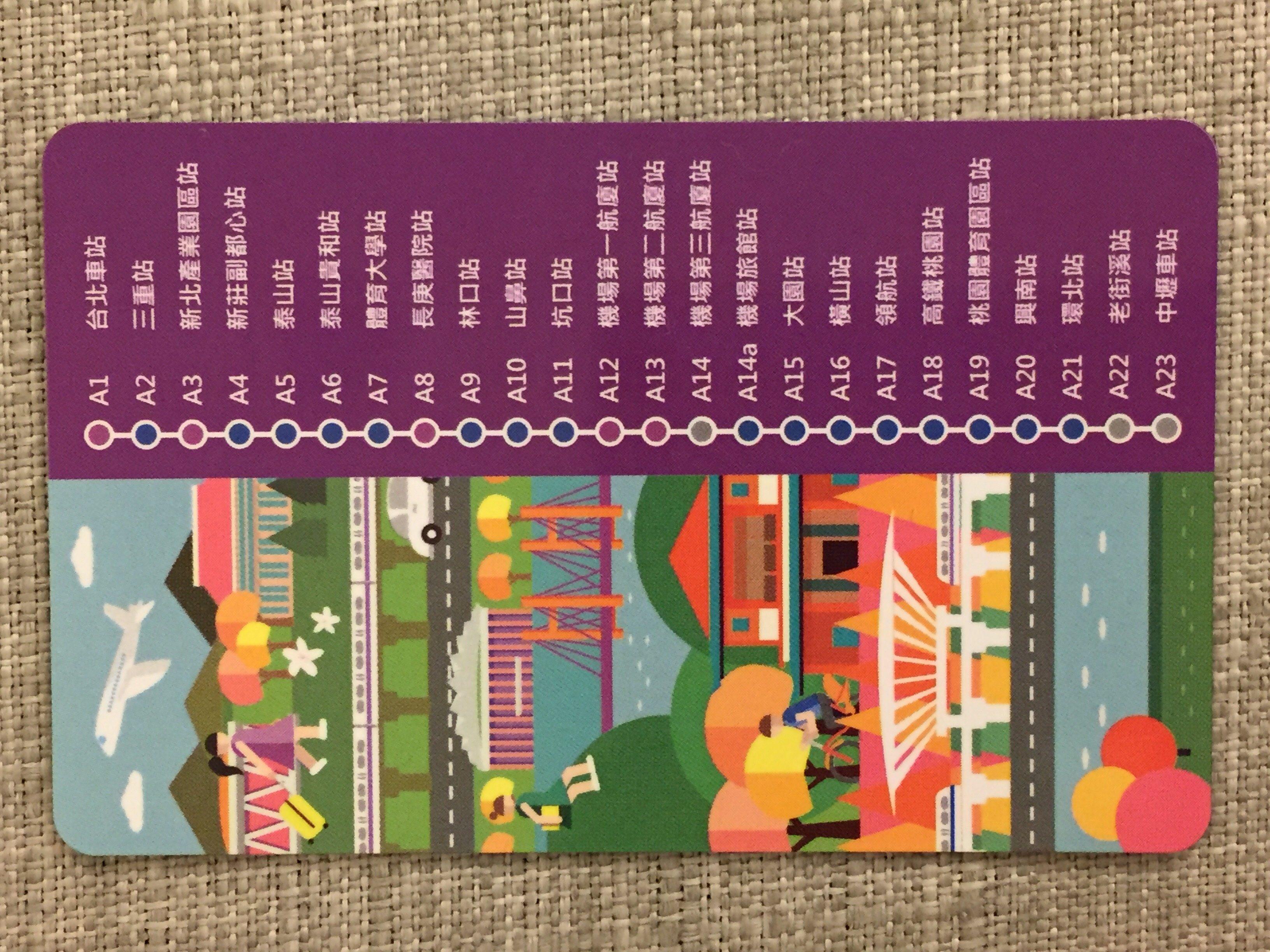 悠遊カード Easy Card 桃園捷運機場線