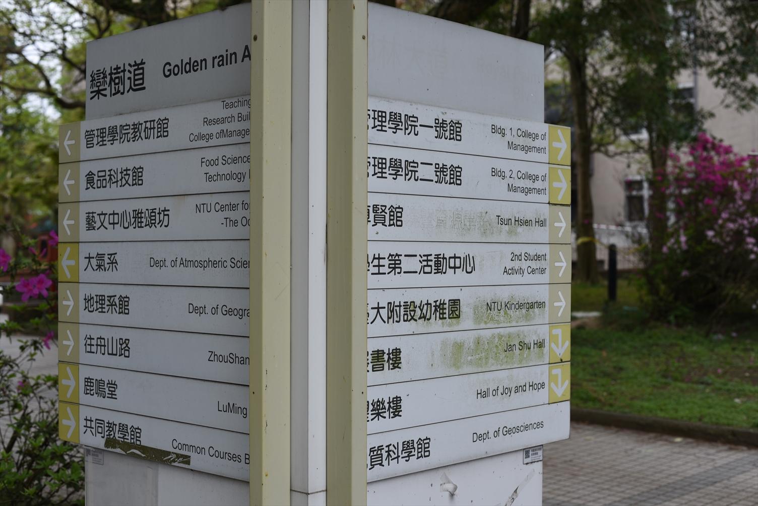 台湾大学 案内板