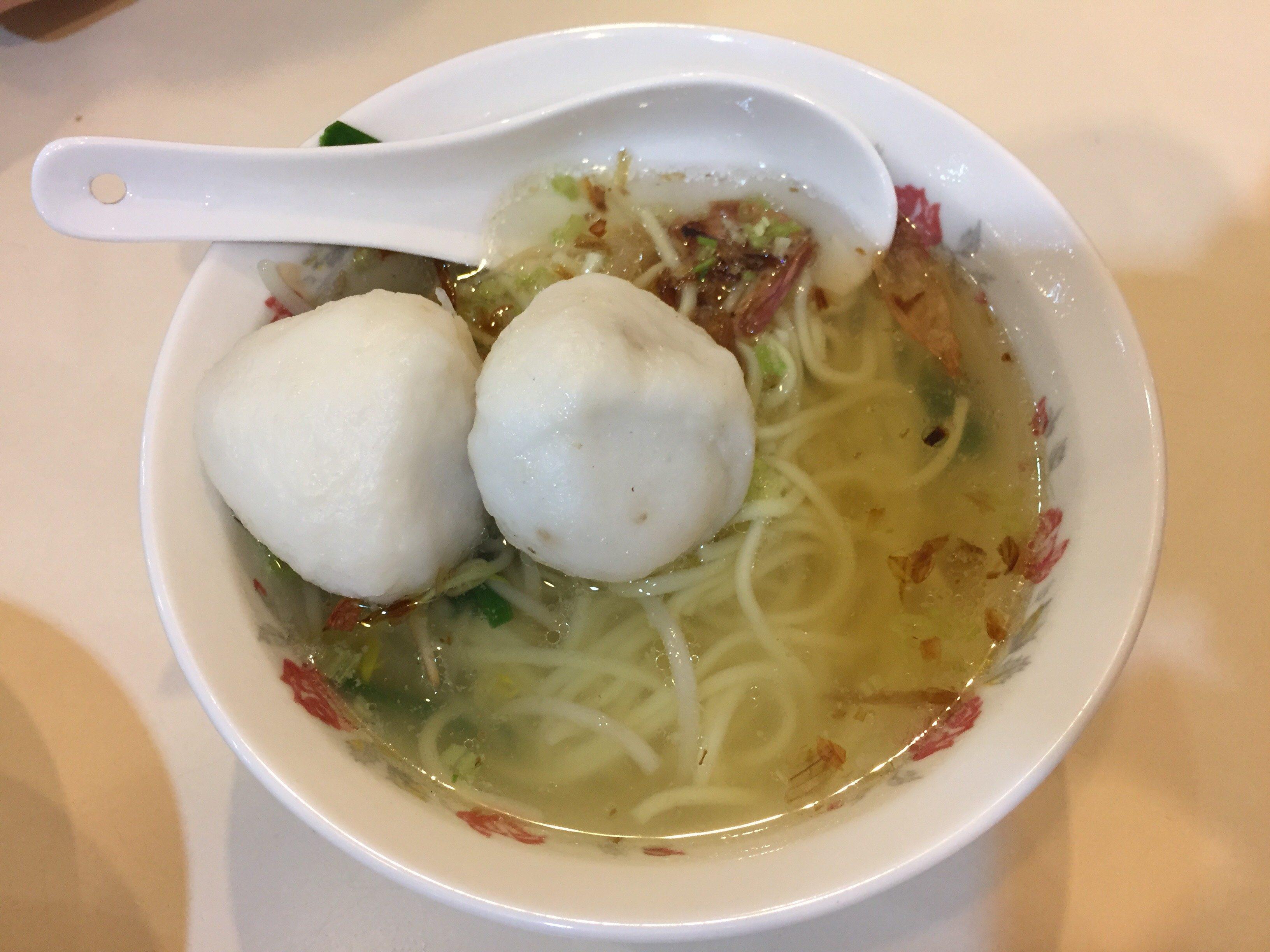 永富福州魚丸店 つみれスープ 麺