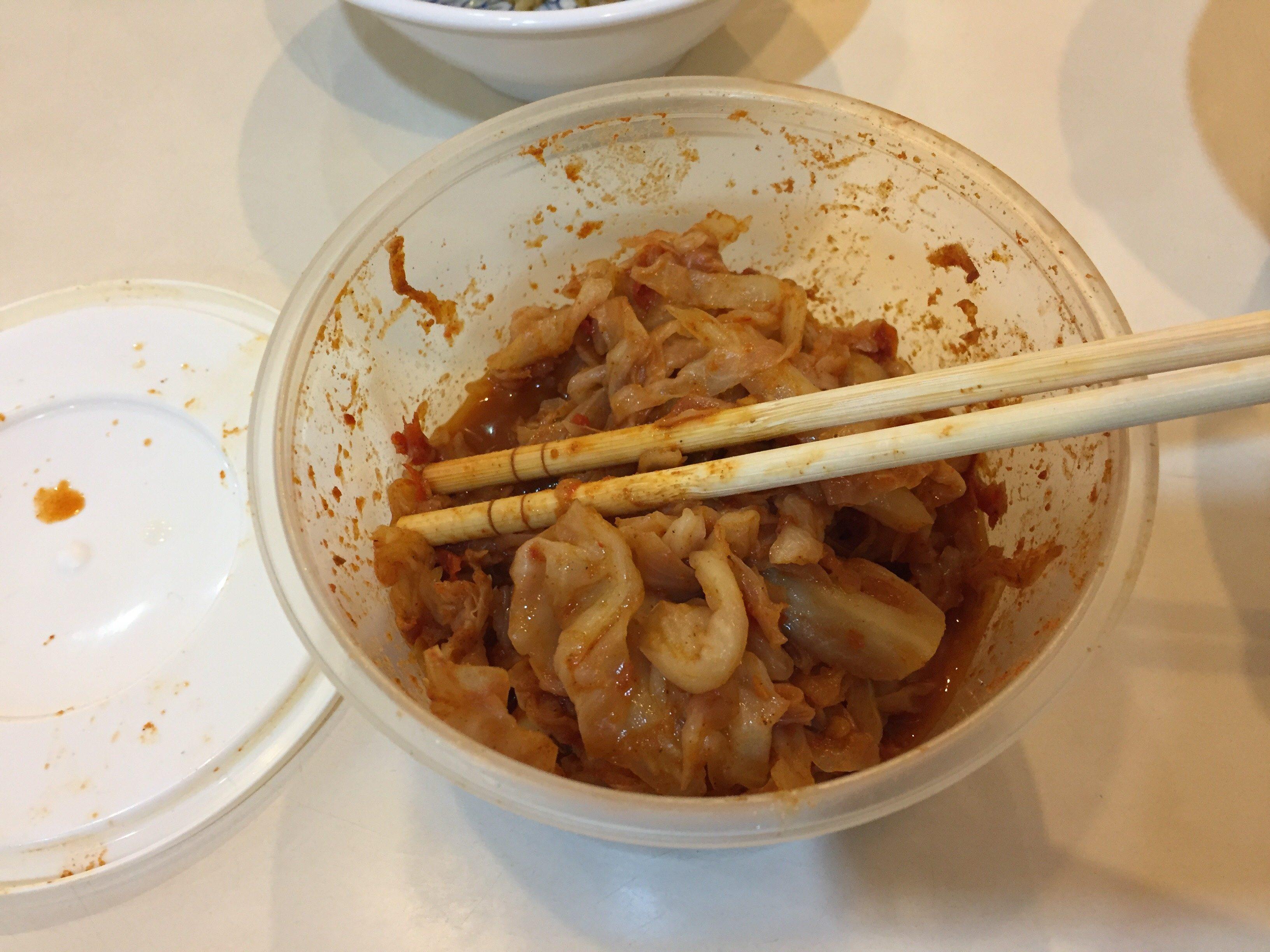 永富福州魚丸店 キムチ