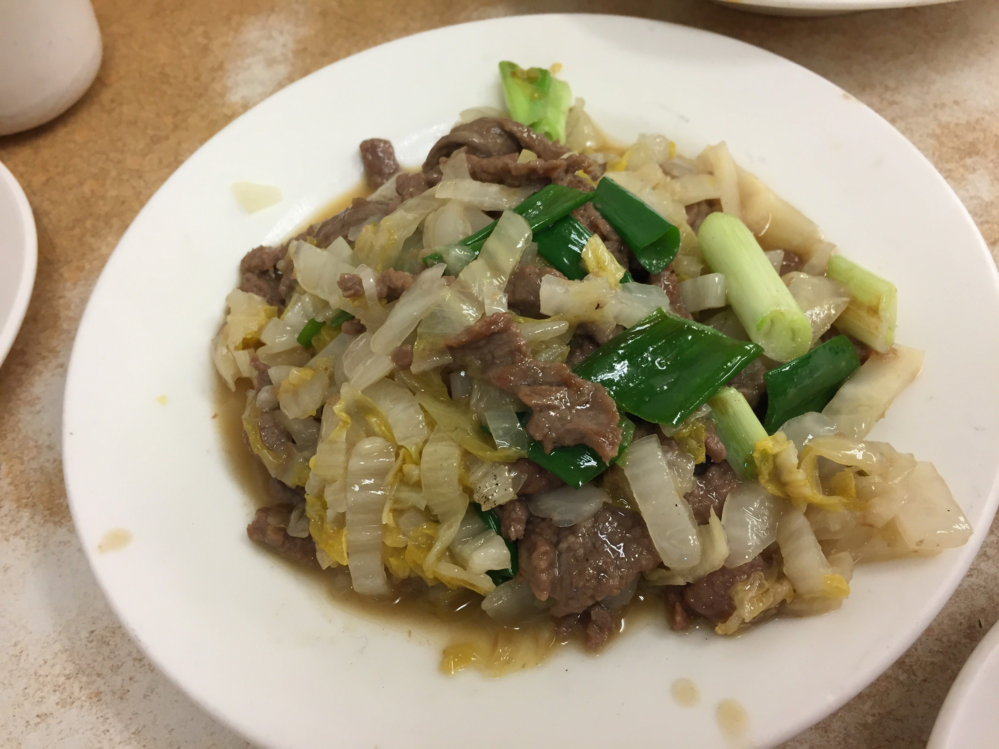 西門町 四川料理 真川味 白菜牛肉炒め