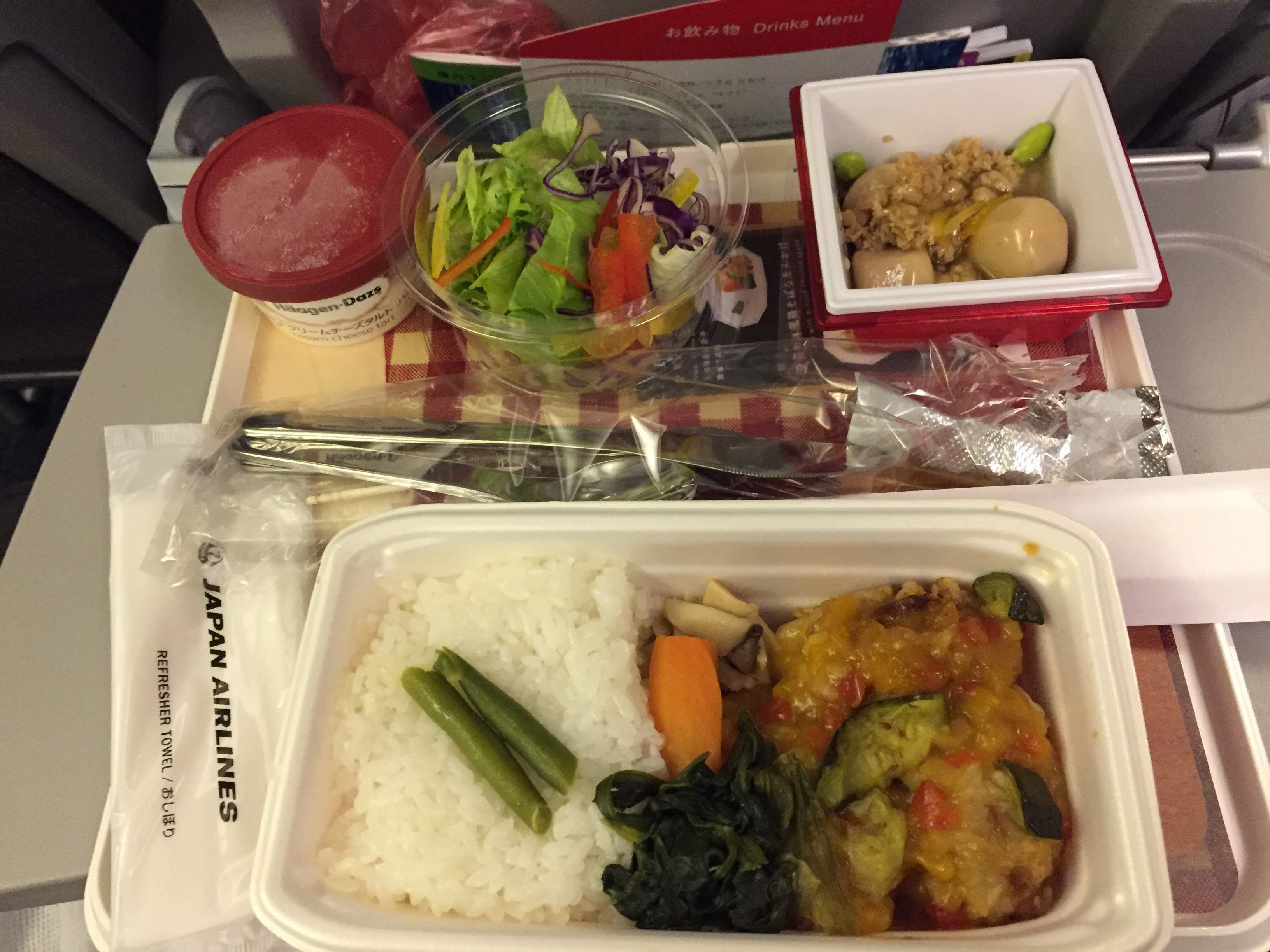 JAL 関空 台北 機内食
